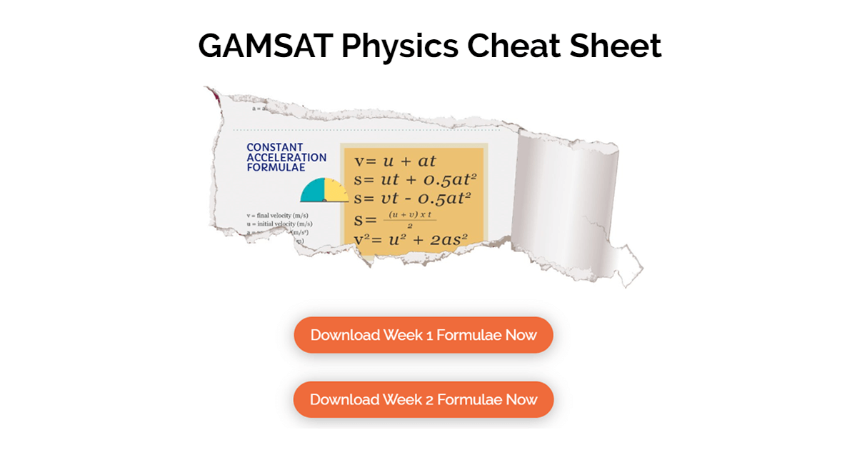gamst physics cheat sheet