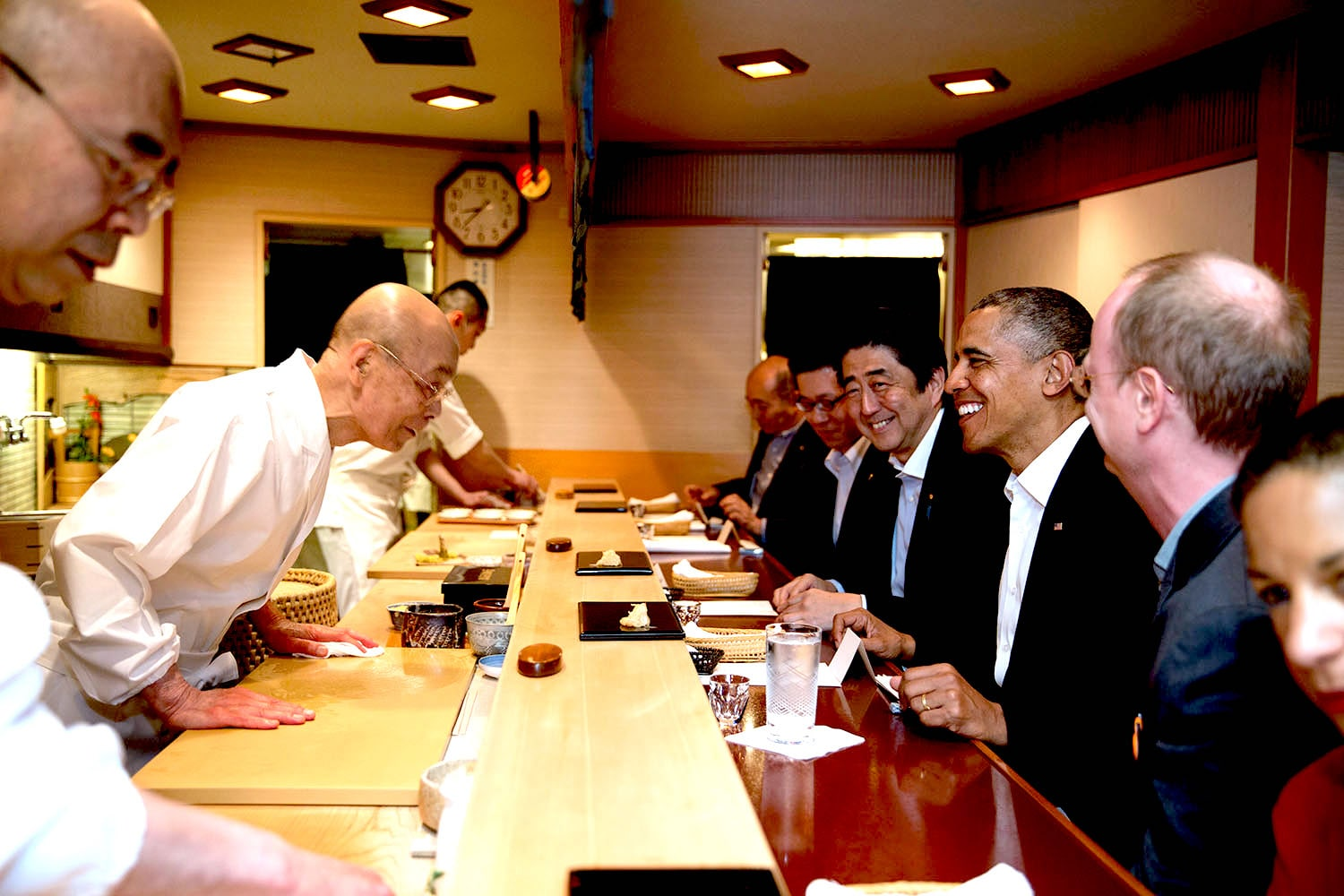 Jiro dreams of Sushi and Barack Obama must do in Japan
