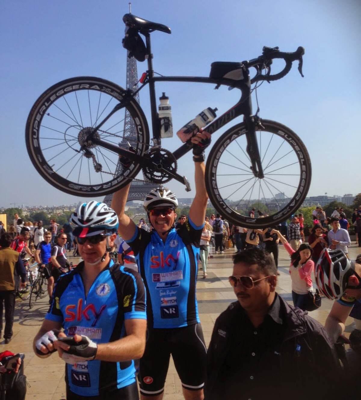 age-group triathlete Simon Burdock in Paris