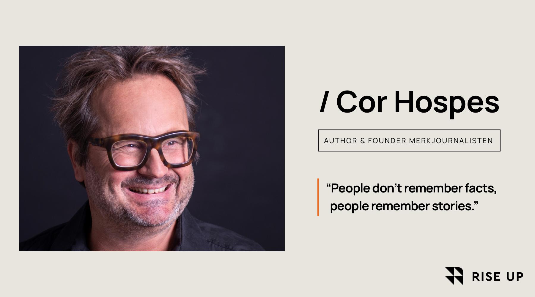 The power of storytelling for restaurants by Cor Hospes