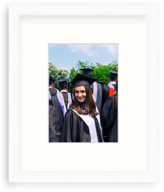 graduation cap and gown photo framed