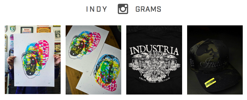 Industry includes their Instagram feed to lure new followers and show what they've been up to.