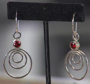 Eva Sherman's soldered jump ring earrings with tube bezel set CZ