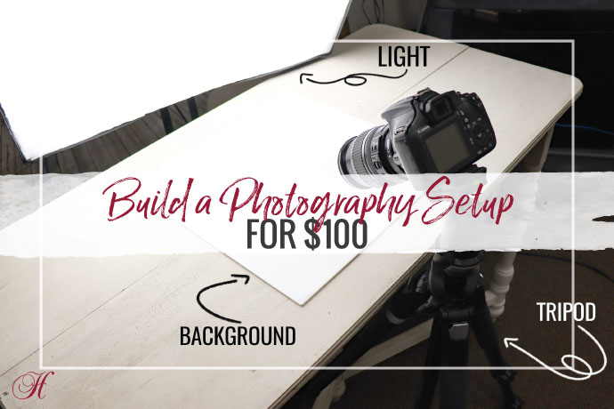 Ready to try photographing your own jewelry? Halstead's photographer, Bethany, gives tips on how to setup a jewelry photo studio for $100.