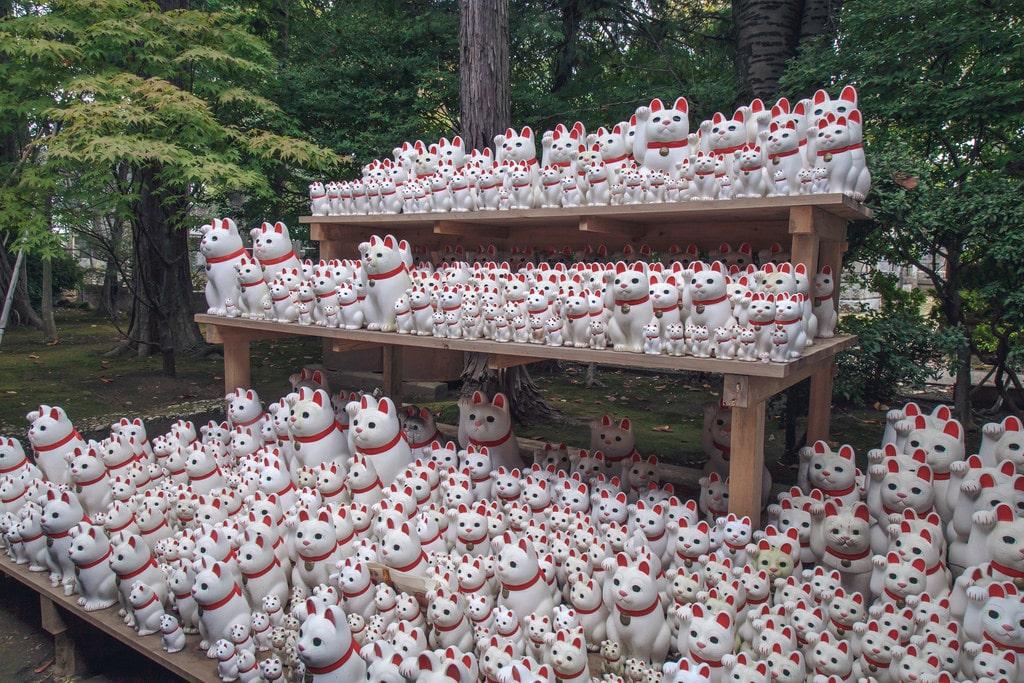 Gotojuki Cat Shrine in Tokyo Japan
