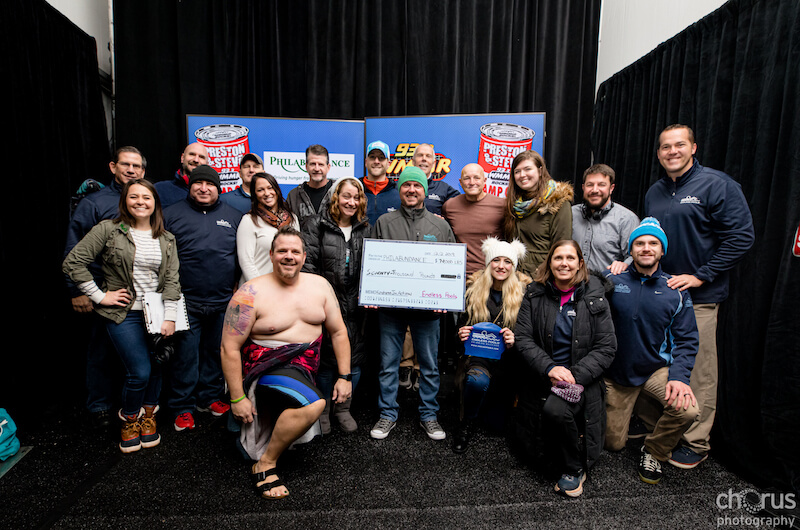 Endless Pools donates to Philabundance during WMMR's Camp Out for Hunger 2019