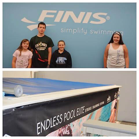 a mom blogger takes her 4 kids to the Endless Pools Factory Showroom in Aston, Pennsylvania