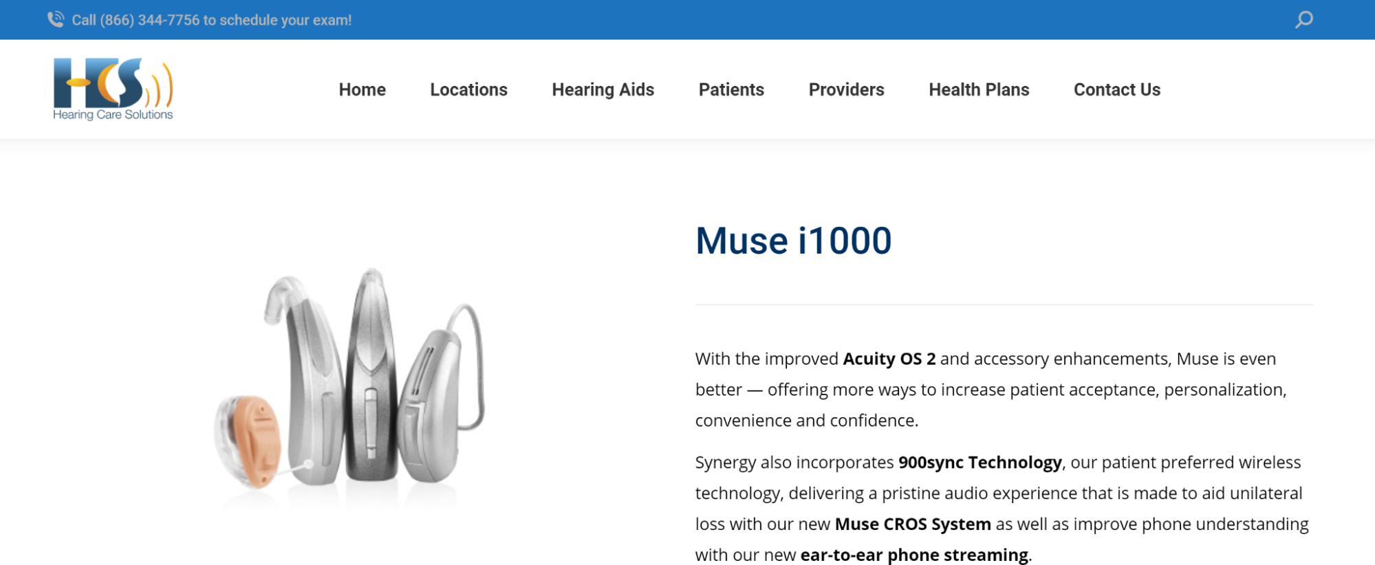Hearing Care Solutions: Muse i100 product description