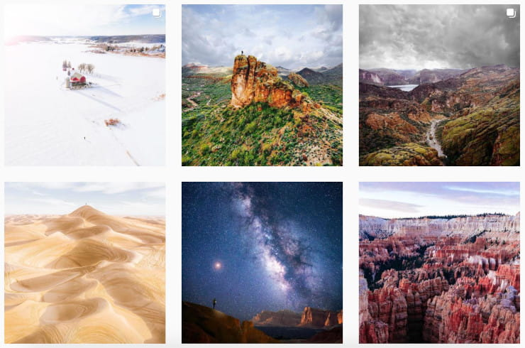 sharing landscape photography