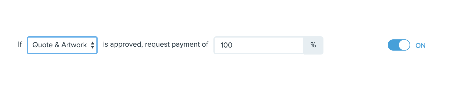 How to automatically request down payment in Printavo