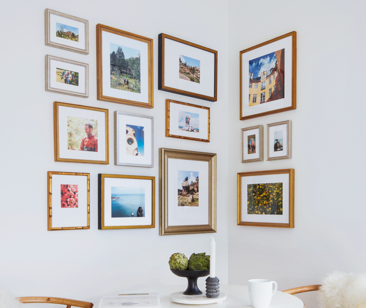 The Corner Gallery Wall