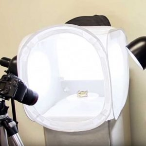 photographing with a light tent