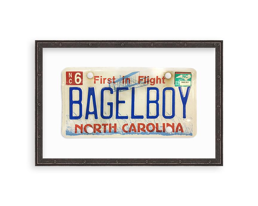 framed north carolina vanity license plate