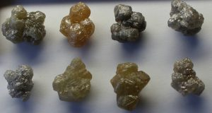 Natural Rough Diamond Specimens from Rock Deco