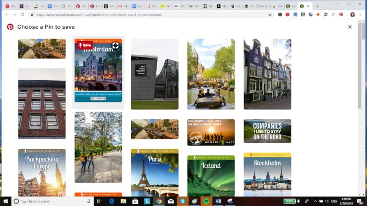Pinterest Marketing Browser Extension