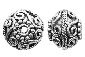 TK100300 - Sterling Silver Bali Style Bead Made in Turkey