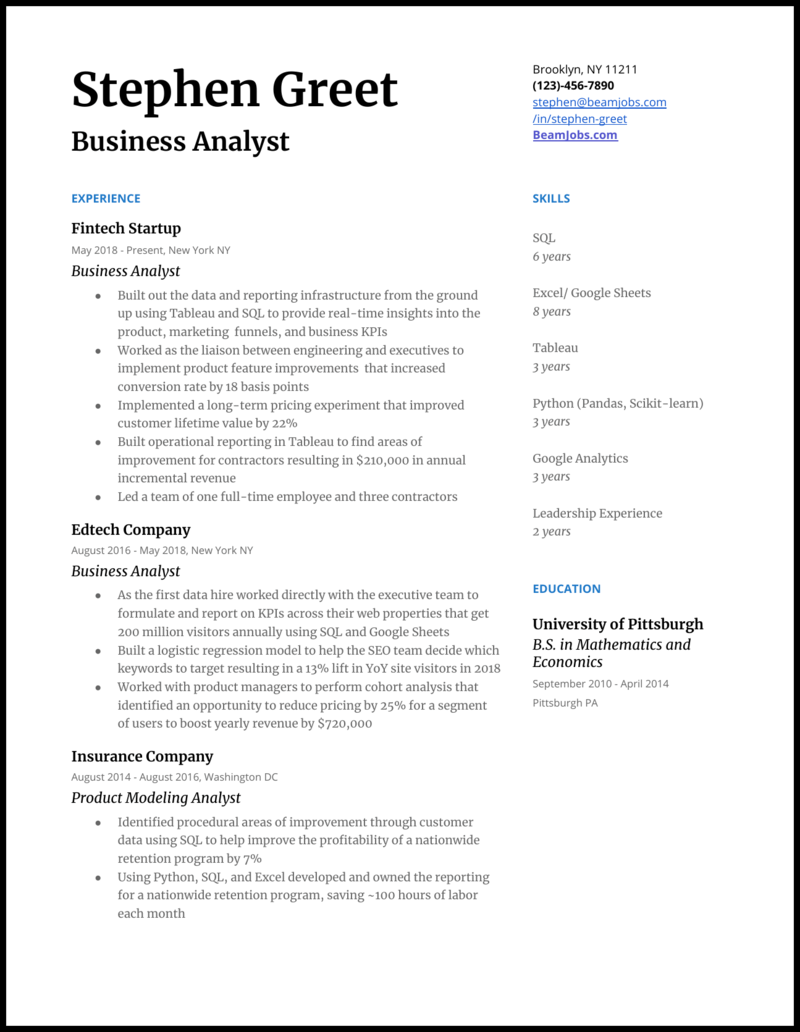 Business Analyst Cv Example from cdn.buttercms.com
