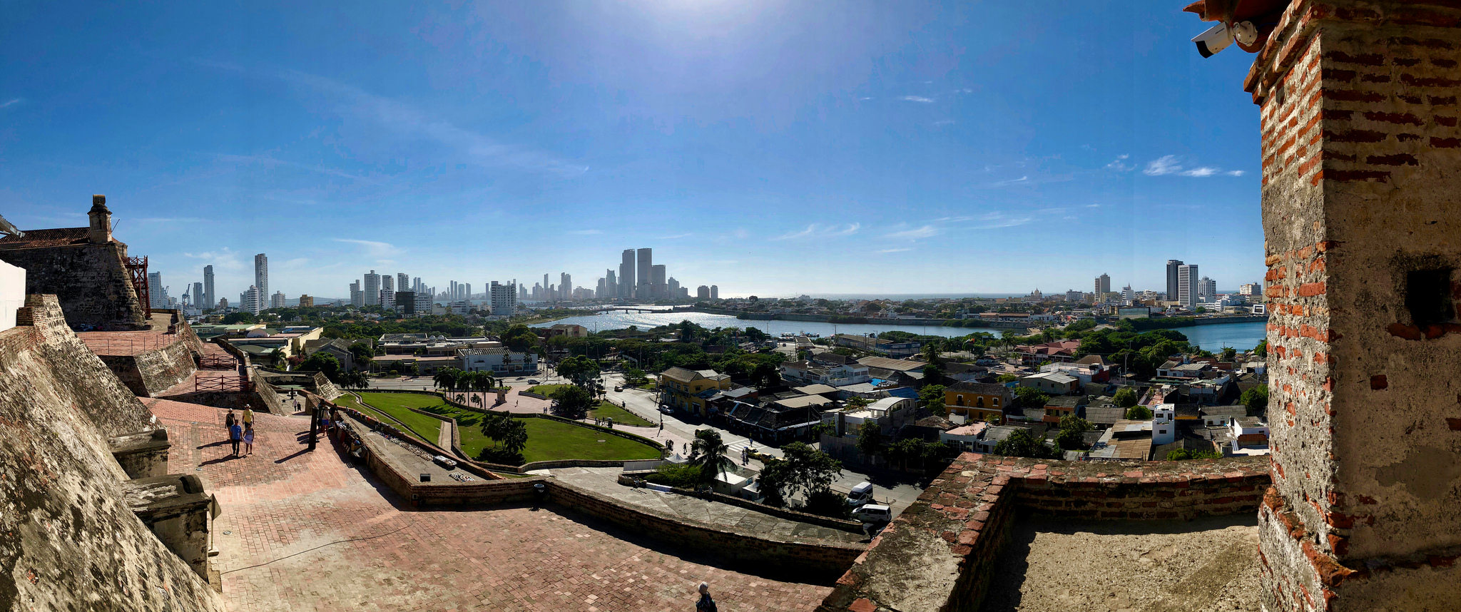 Panorama of Cartagena Colombia