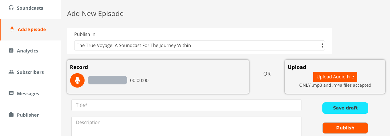 create podcast episode