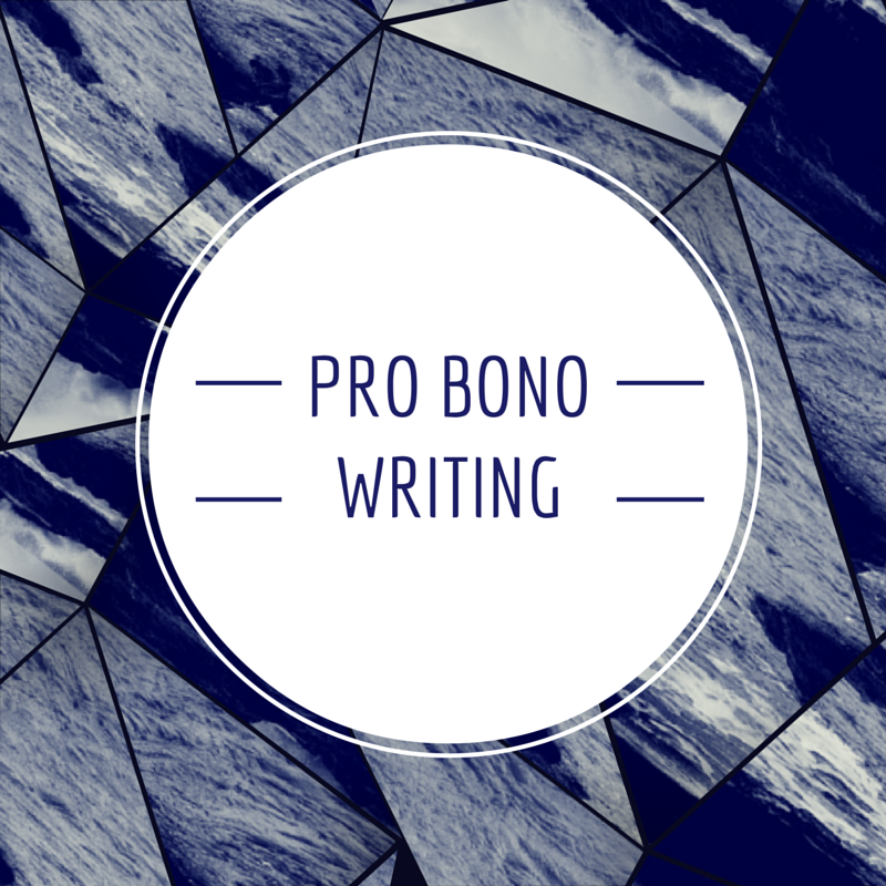 Pro Bono: Writing Beyond The Paycheck