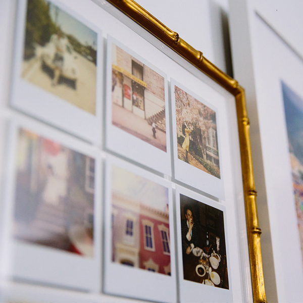 Polaroid Photos in Gold Bamboo Mandalay Frame