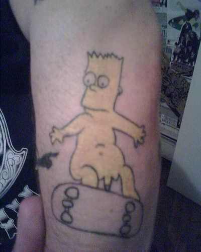 bart simpson bad tattoo