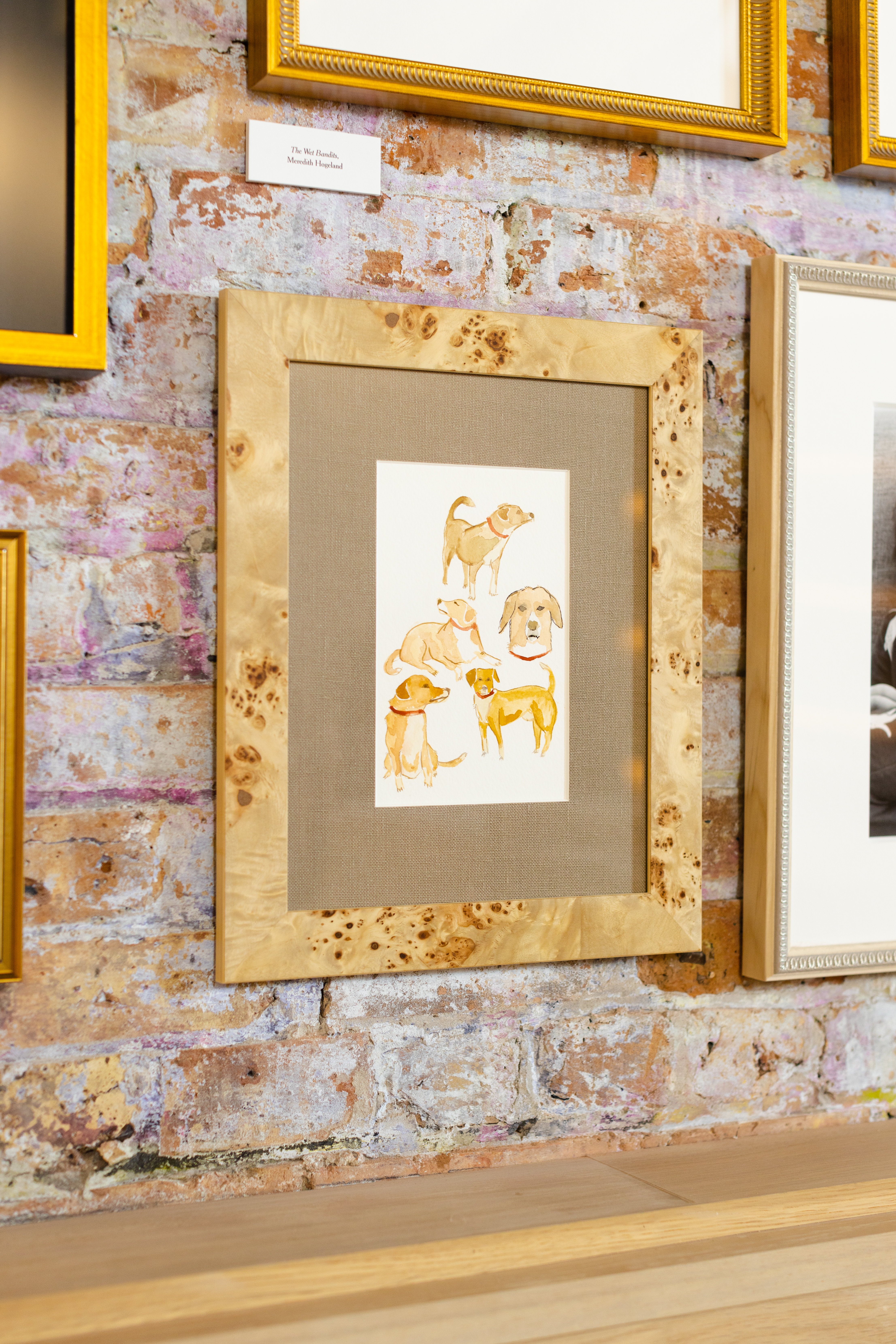 dog painting in frames