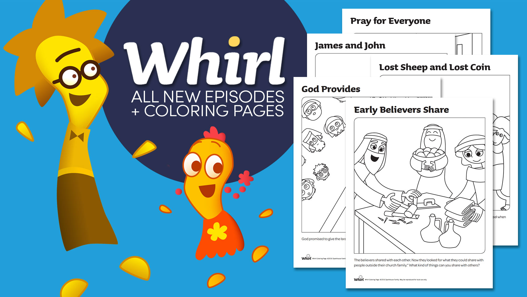 Introducing New Episodes of Whirl + 5 FREE Coloring Pages