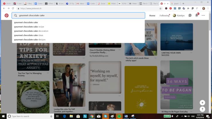 Pinterest for Business Keywords