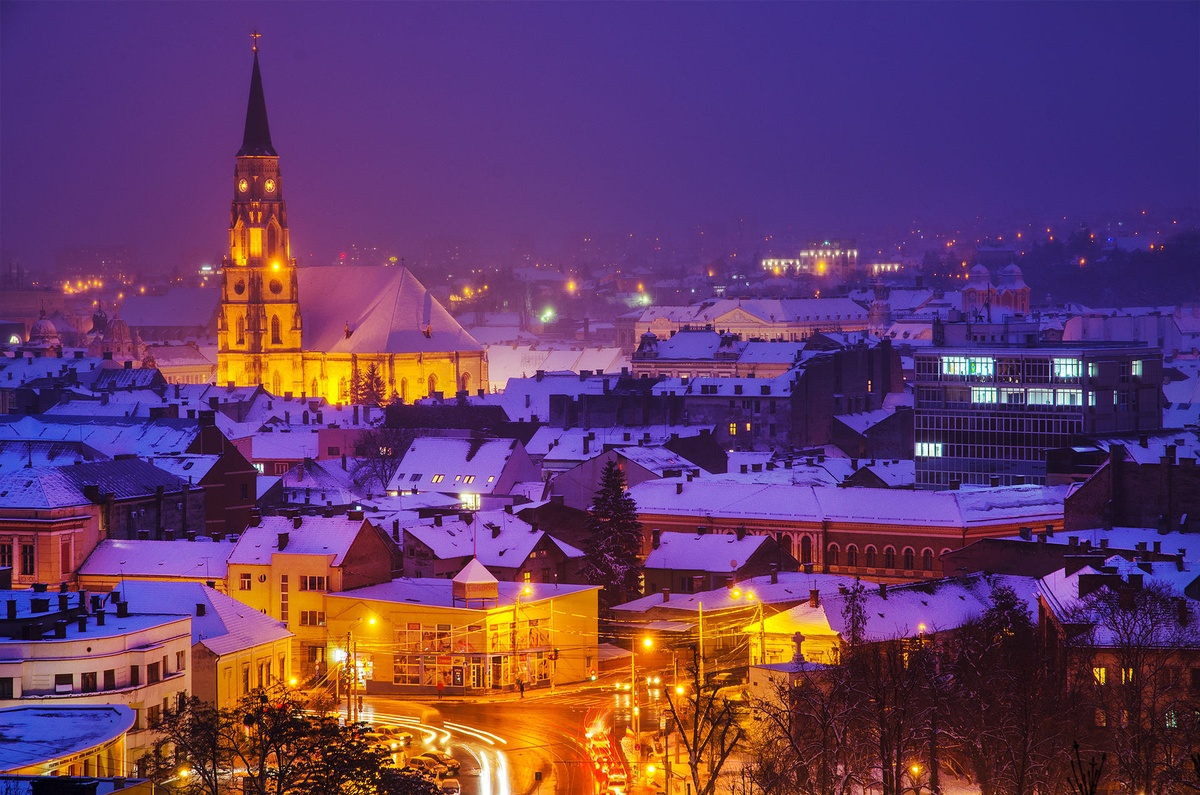 The city of cluj napoca