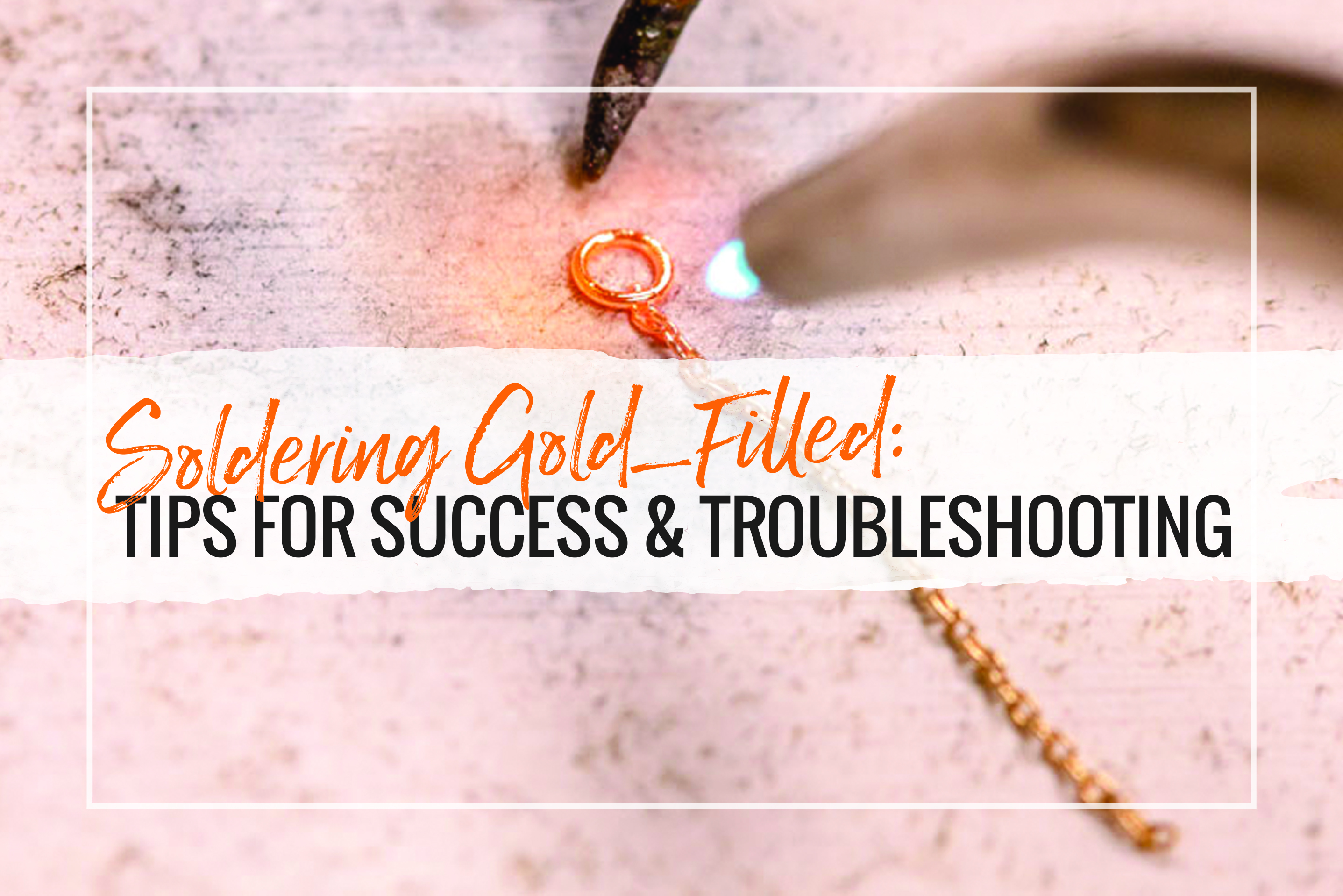 Soldering gold-filled can be problematic. It requires knowledge and training. Read this article for how to solder gold-filled jewelry.
