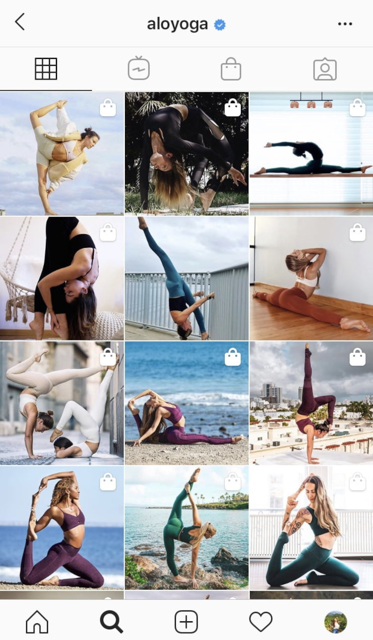 Alo Yoga User Generated Content Instagram