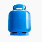 Ilustração de fundo branco com botijão azul de 13KG