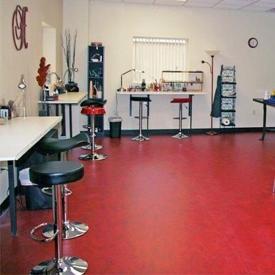 Halstead's employee studio - early days