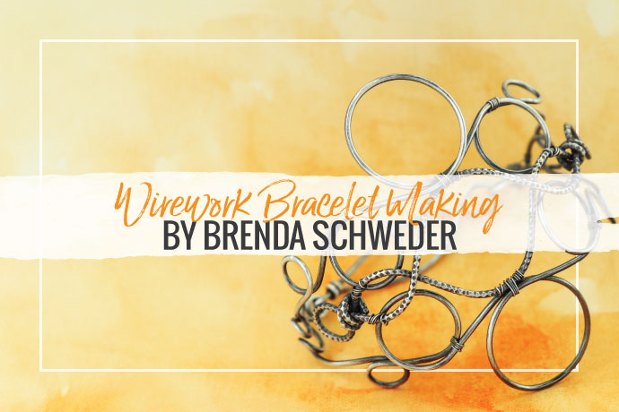 Learn how to use a wire jig tool to make stunning wirework bracelet designs out of bulk jewelry wire. Brenda Schweder offers tips for success.