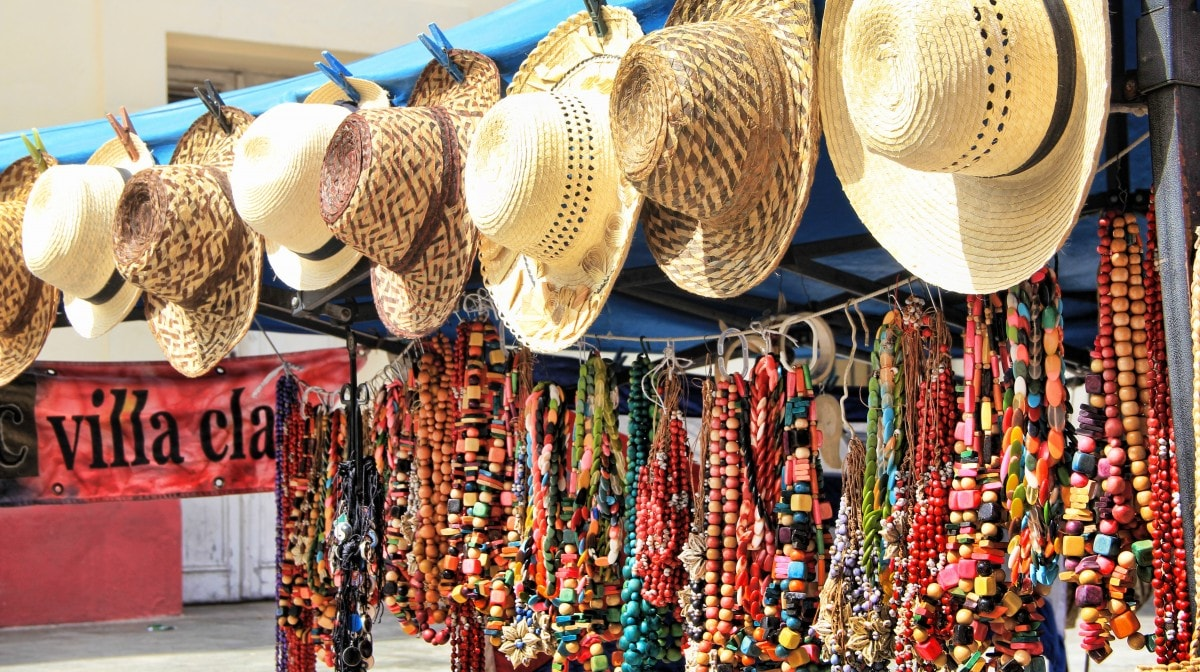 jewelry and hats to bring home from Cuba