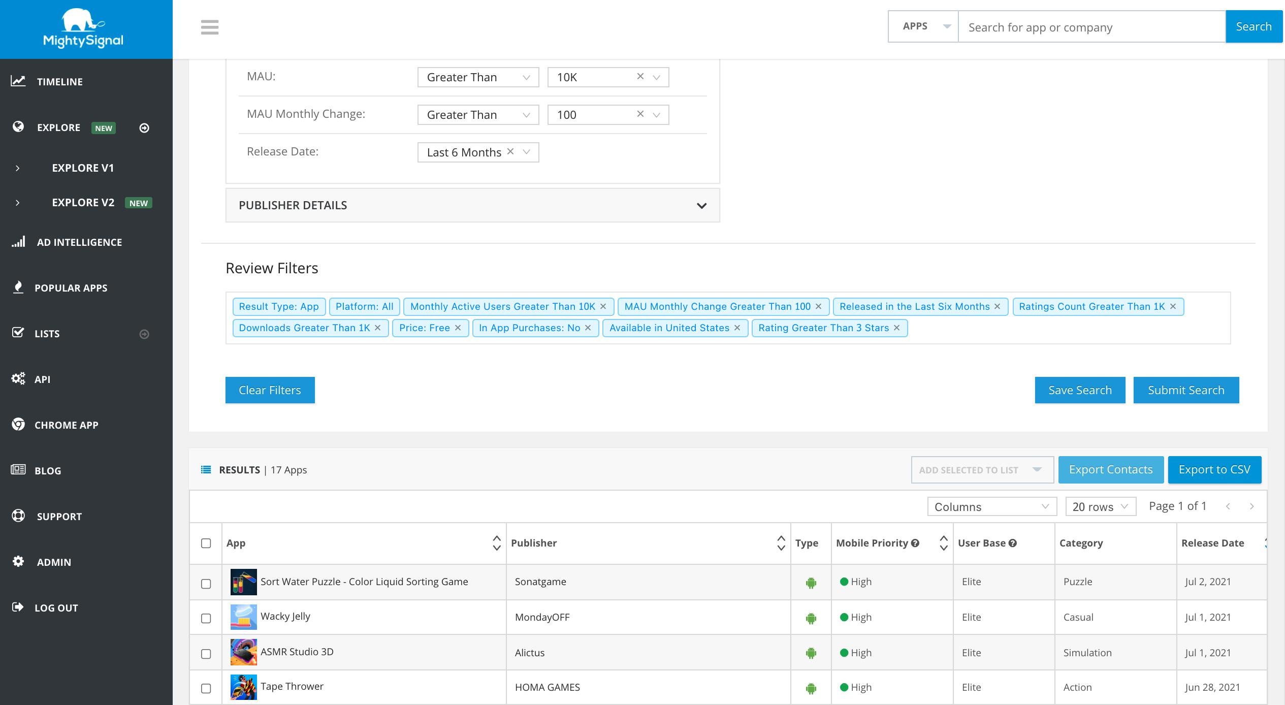 MightySignal Upgrades MAU Data