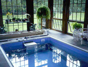 an Endless Pool installed in a conservatory