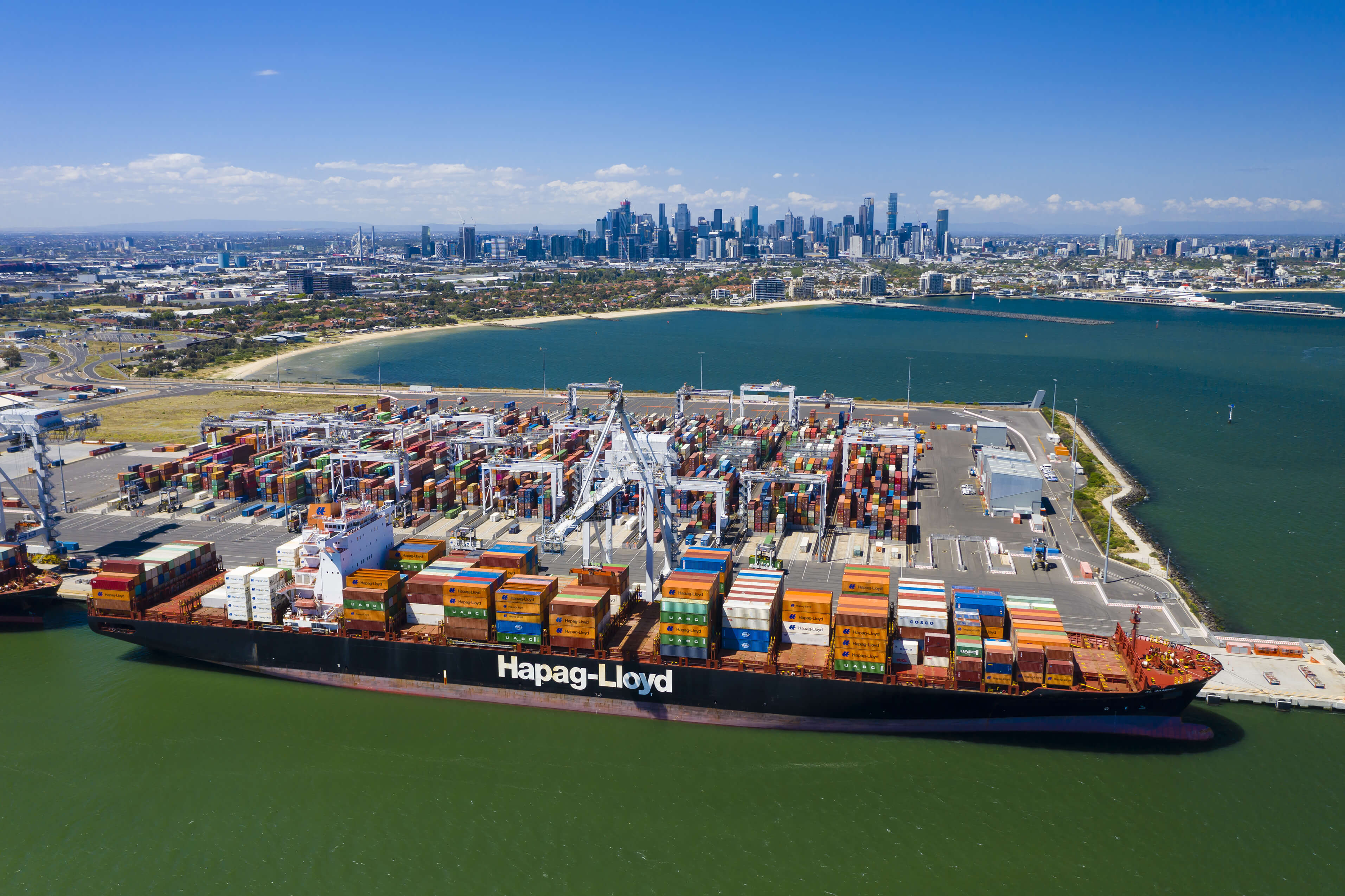 Victorian International Container Terminal in Melbourne. VICT Receives Suspension from Australian Union Industrial Action