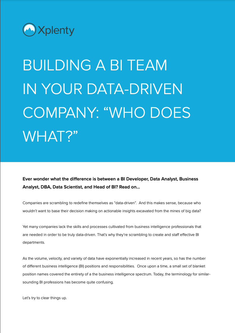 "BI Professions in the Age of ""Data-Driven Companies"""