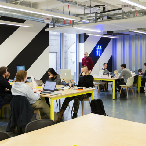 Huckletree's Central London location in Shoreditch