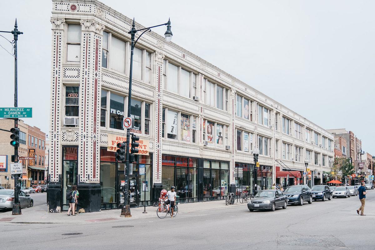 street in Chicago's Wicker Park neighborhood