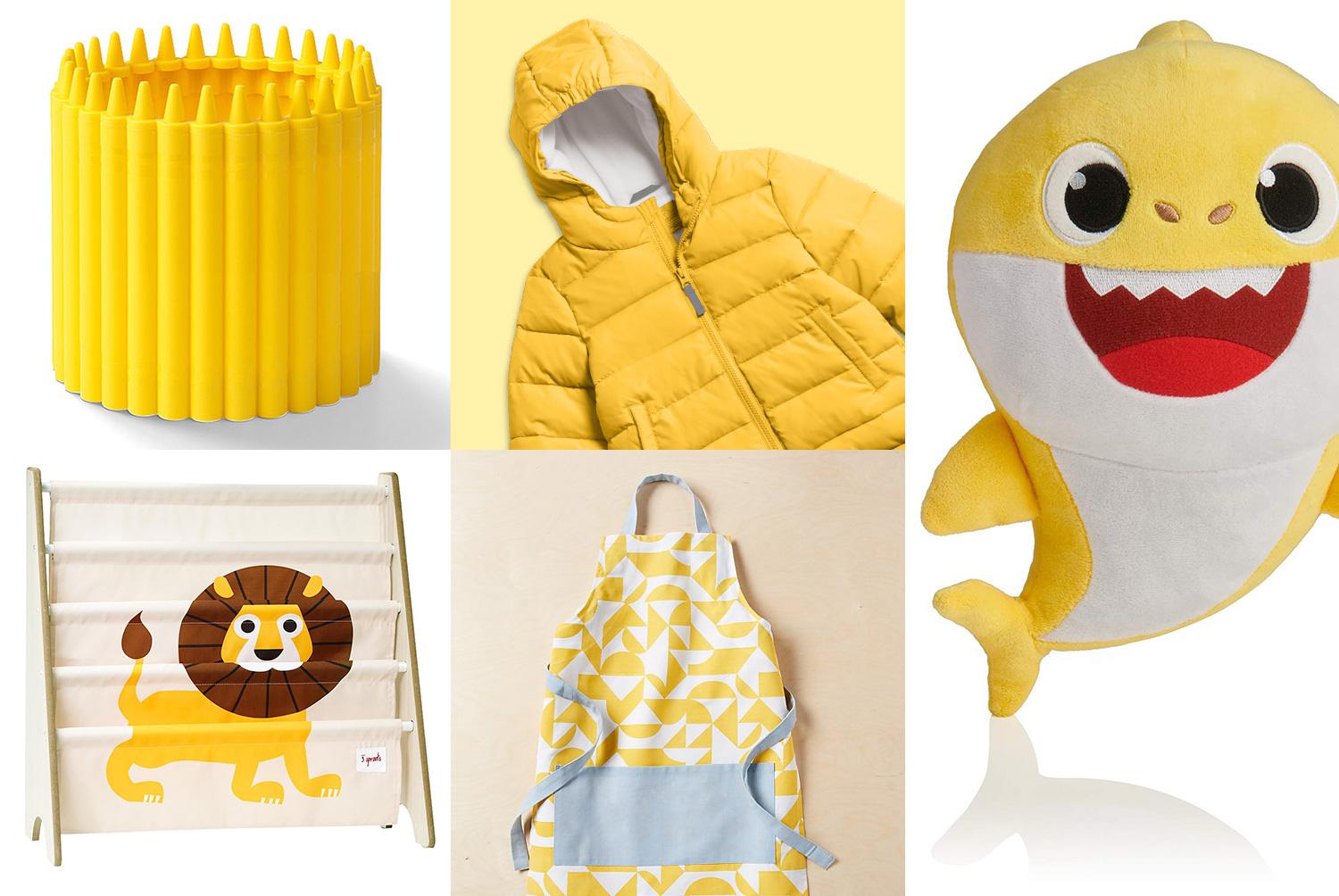 primary grid of yellow gift items