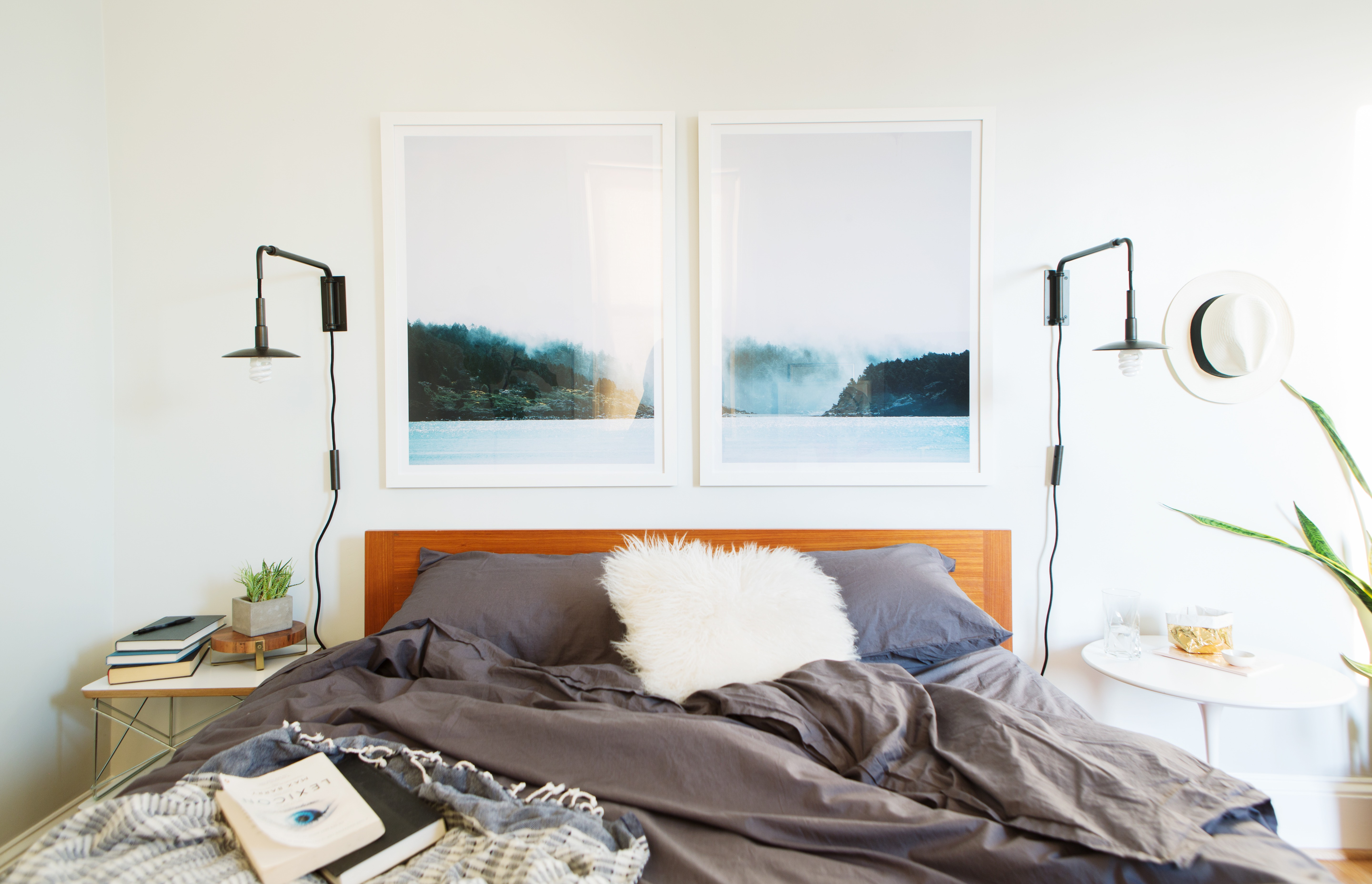 framing a large photo as a diptych