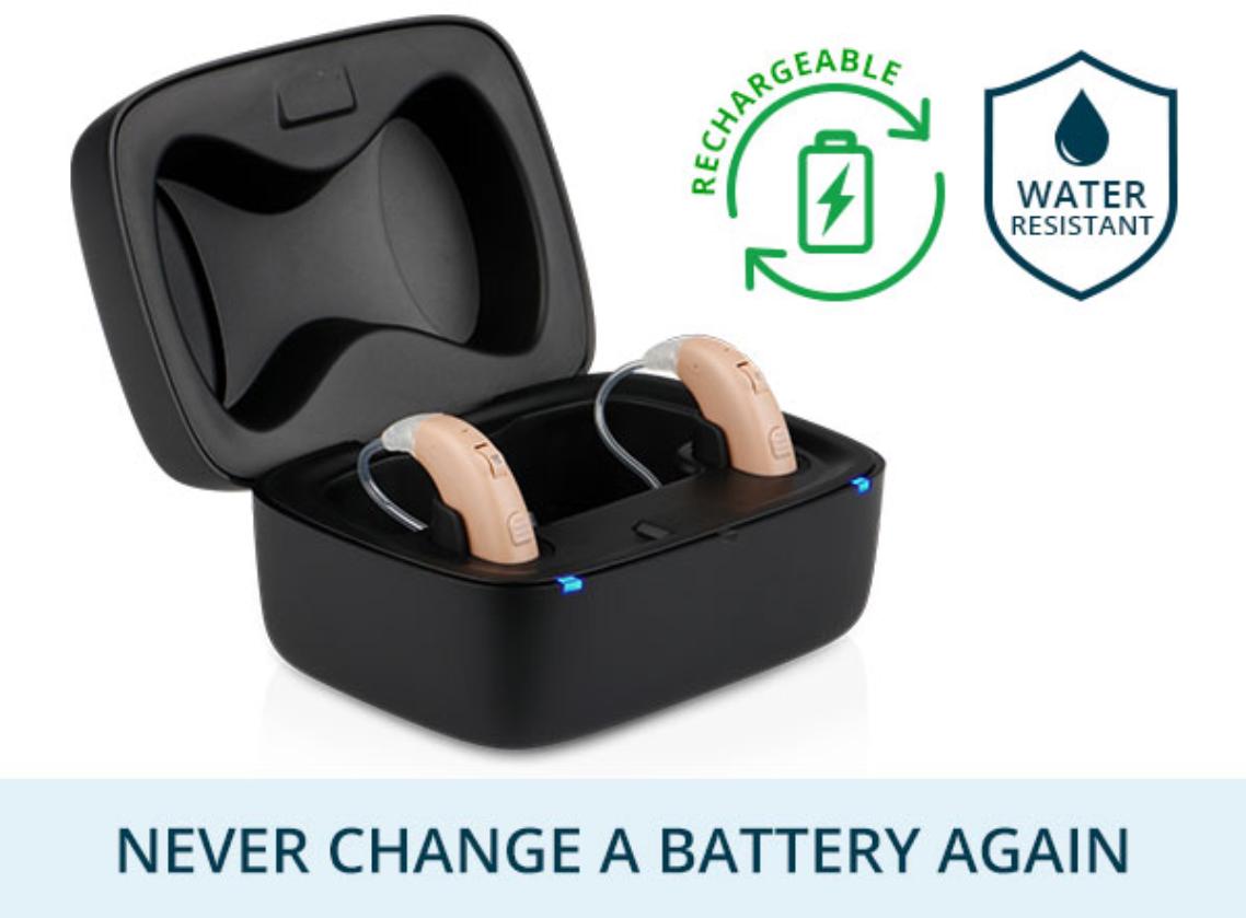 MDHearingAid VOLT+ in black portable charger