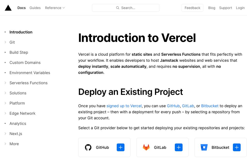 Deploying Vercel static website hosting