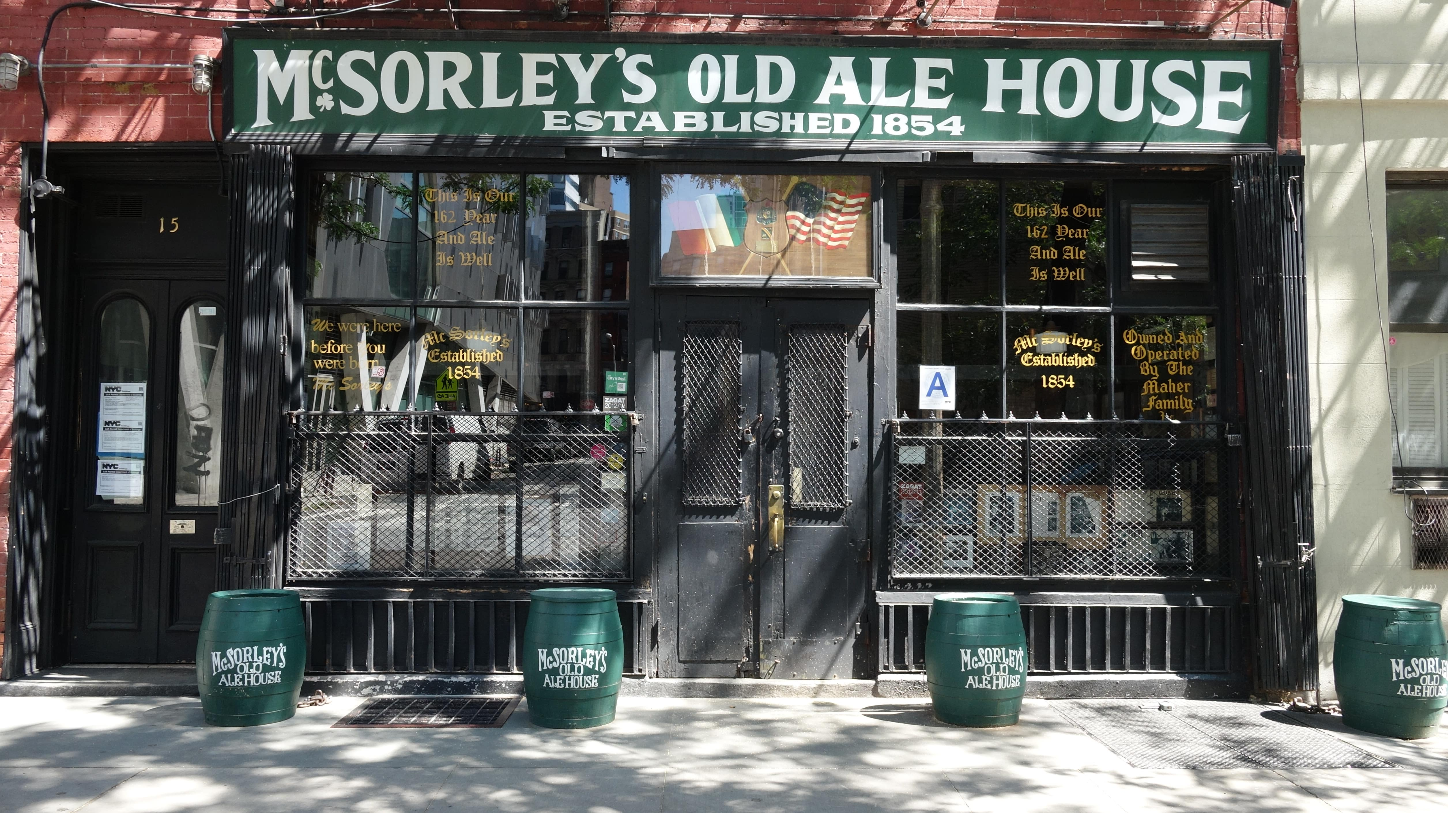For a fun thing to do in NYC, grab a beer at McSorley's