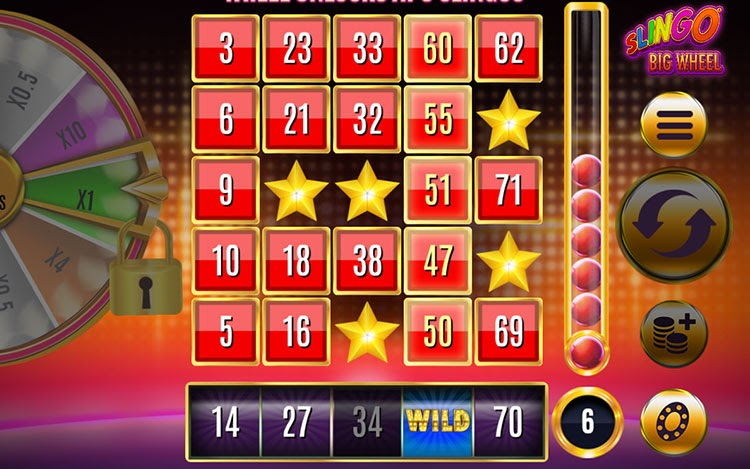 Slingo Big Wheel Gameplay