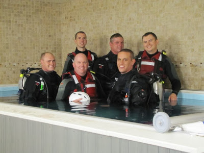 Platte Valley's Swift Water Rescue Team poses in their Endless Pool