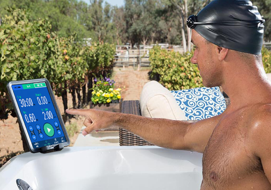 using the Endless Pools Fit@Home smartphone app